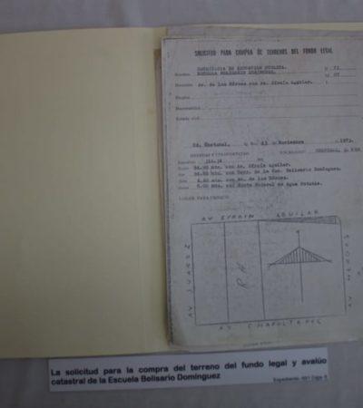 Escuela entrega documento de 1903 que conformará parte del Archivo General del Estado y que contribuirá al rescate de la memoria histórica de QR