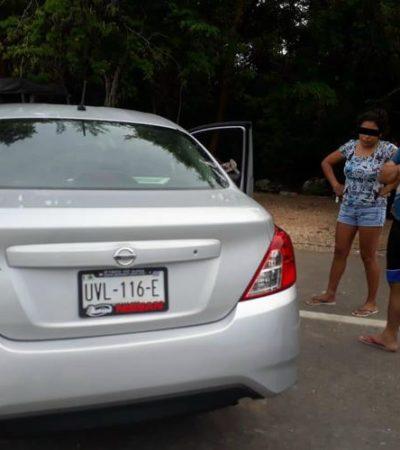Asaltan farmacia en Valladolid y son atrapados rumbo a Quintana Roo, llevaban a niño de 4 años