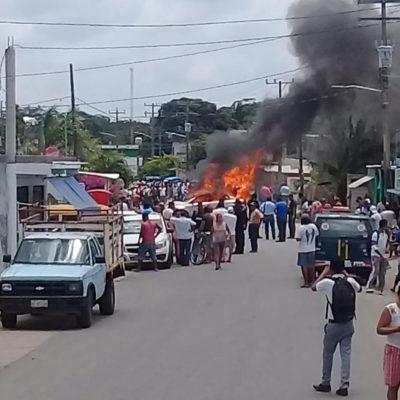 Matan delincuentes a menor cuando chocan el auto en que escapaban contra un mototaxi en Tabasco