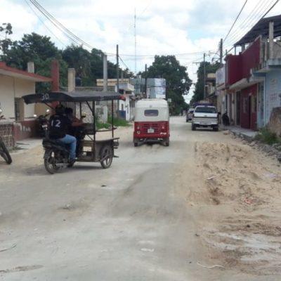 Denuncian atraso de obras de bacheo por parte de Sintra en José María Morelos