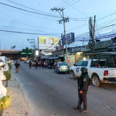 Balea comando una veintena de comercios en Acapulco; reportan al menos tres heridos