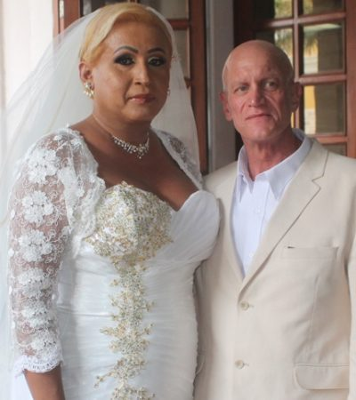 Celebran primera boda civil entre una mujer transgénero y un varón extranjero en Veracruz