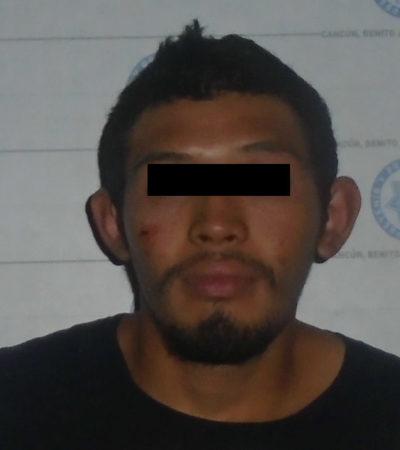 Detienen a ladrón cuando se llevaba bomba de agua de un kinder en Cancún