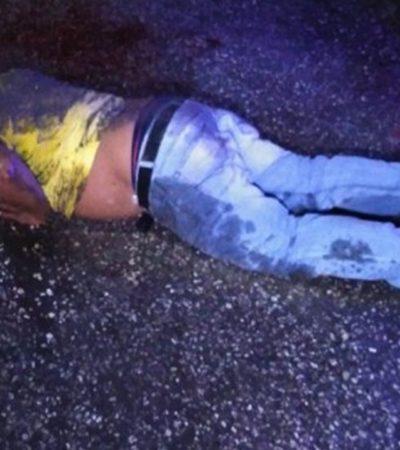 Lesiona ebrio a dos taxistas con arma blanca y es golpeado por noctámbulos en Campeche