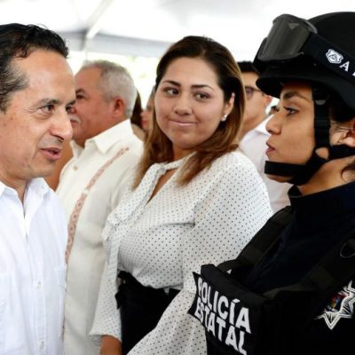 Asegura Gobernador que con la reconstrucción de las instituciones de seguridad se tienen policías más confiables
