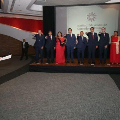 Toma Gobernador protesta al Consejo Directivo 2018 del Instituto Mexicano de Contadores Públicos de Cancún