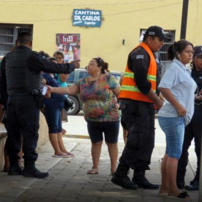 Protagonizan mujeres zafarrancho; policías intervienen al escucharse amenazas de muerte
