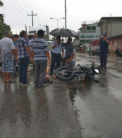 Motociclista resulta lesionado en choque con automóvil en FCP