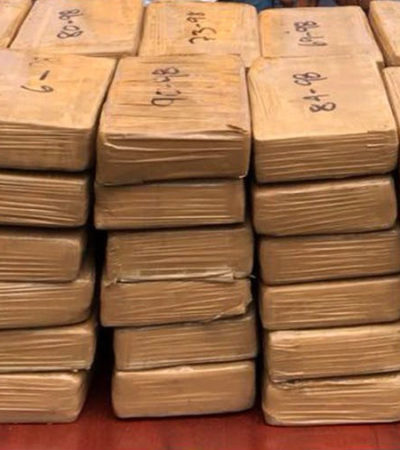 Decomisan cargamento de cocaína con valor de más de 25 millones de pesos en Chiapas