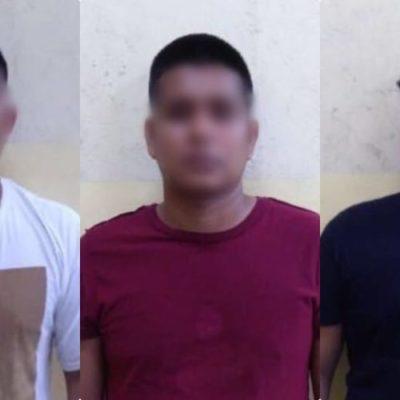Capturan en Cancún a tres jóvenes presuntamente implicados en 100 robos a tiendas de conveniencia en Cancún, pero no procedió su puesta a disposición del MP