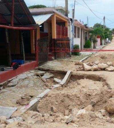 Obras de Sintra dañaron casas en Chetumal; propietarios exigen las reparaciones correspondientes