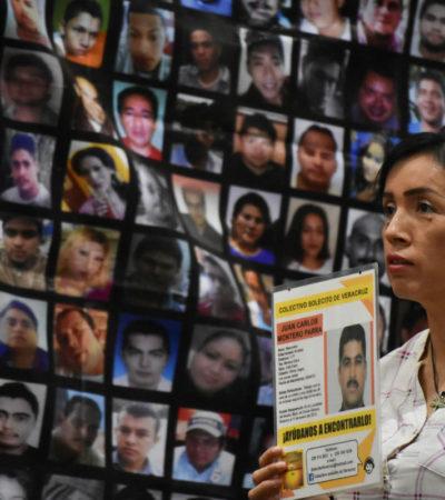 'Pase de lista de desaparecidos' en seis ciudades de Veracruz; estiman colectivos en 7 mil las ausencias