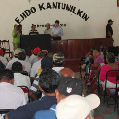 Continúa incertidumbre entre ejidatarios sobre recuperación de tierras en Kantunilkín