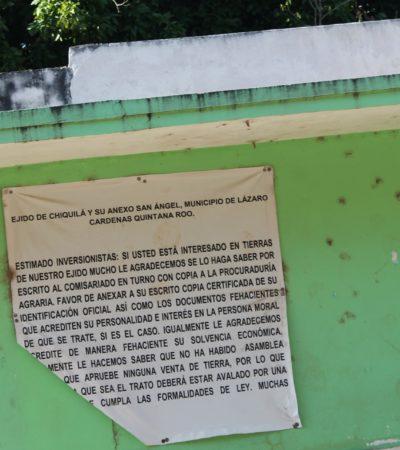 Ejidatarios de Chiquilá cuestionan parcelamiento de Punta Caracol
