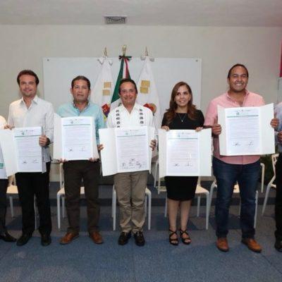 Firma Gobernador acuerdo de capacitación con 8 de 11 alcaldes electos en Quintana Roo