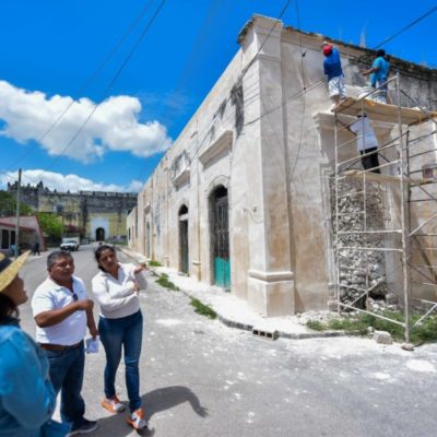 Diputados gestionan recursos para preservación de sitios históricos de Tihosuco