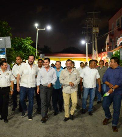 Entregará Remberto un Cancún mejor iluminado; avance de más del 70% con la instalación de más de 33 mil lámparas