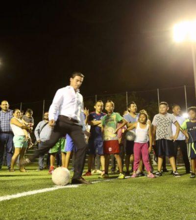 Supervisa Remberto Estrada nueva fase de instalación de luminarias del proyecto Yaakun Cancún