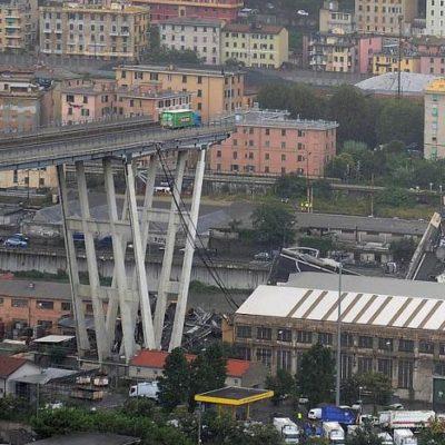 Colapsa puente en Génova que conecta Italia con Francia y deja al menos 22 muertos