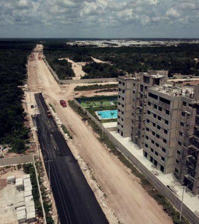 Con inversión de 400 mdp, comienza en Cancún la pavimentación de la Avenida135 para unir el polígono sur con la avenida Huayacán