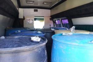 Rotulan camioneta robada como ambulancia para traficar 'huachicol' en Hidalgo