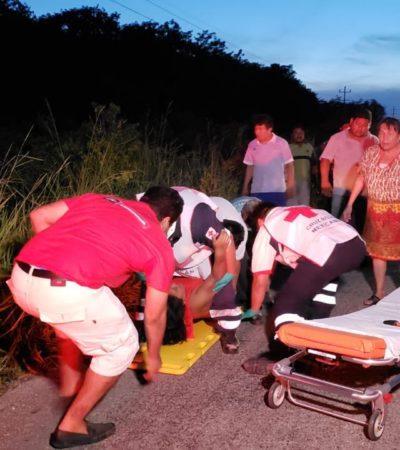 Accidente en Felipe Carrillo Puerto deja ocho heridos, entre ellos 5 menores de edad