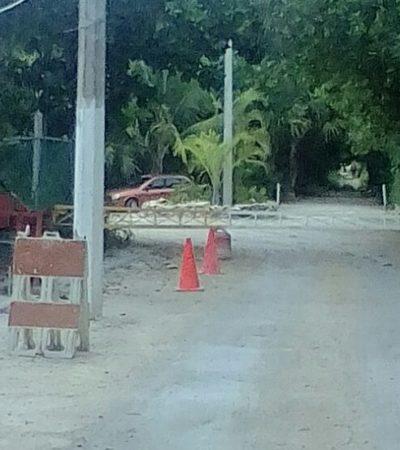 Denuncian a extranjeros por privatizar acceso público a la playa Paraíso, al norte de Playa del Carmen