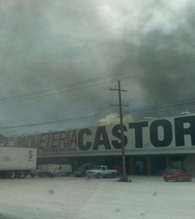 Se incendia predio cerca del bulevar Colosio