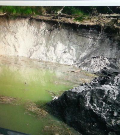Tres socavones secaron la laguna Chakanbakán, cita Conagua