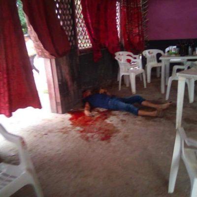 EJECUCIÓN EN BAR DE LIMONES: Matan de dos disparos a ex presidiario en Bacalar
