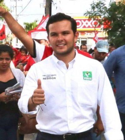 """""""ES NORMAL QUE EL PARTIDO EN EL GOBIERNO SE DESGASTE UN POCO"""": Regidor electo del 'Verde' en Cancún llega a la conclusión que les afectó cambiar de candidato en pleno proceso electoral"""