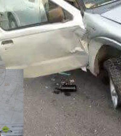 Sufre accidente en carretera Mérida-Campeche representante de Morena