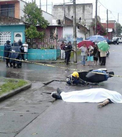 Emboscan sicarios a motociclista en Veracruz