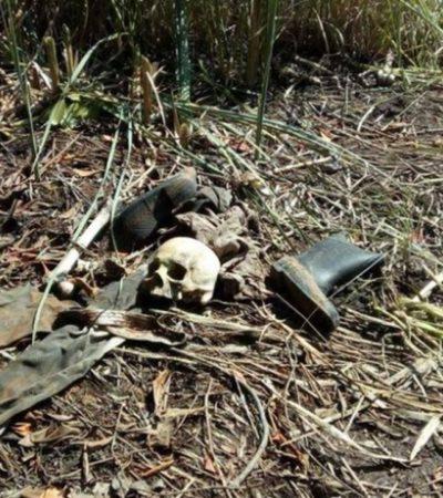 Podría osamenta hallada en Tecolutla ser de un octogenario desaparecido desde 2017