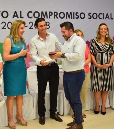 Remberto Estrada y Elvia Barba reconocen labor del DIF municipal, empresarios y asociaciones para abrir el CADI 13