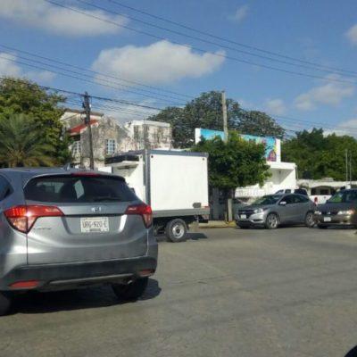 Cambios en la vialidad de la Xcaret provoca tránsito vehicular en la Palenque