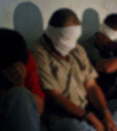 Rescatan a cuatro secuestrados en Veracruz; plagiarios lograron escapar