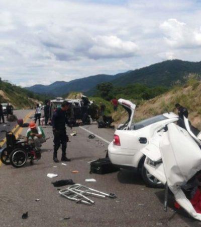 Deja cinco muertos choque entre patrullas de Michoacán y auto particular; tres eran policías