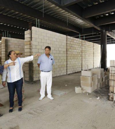 Supervisa Cristina Torres avances de obras en Playa y Puerto Aventuras