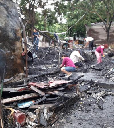 Cae rayo sobre vivienda y provoca voraz incendió que consumió otras diez casas en Veracruz
