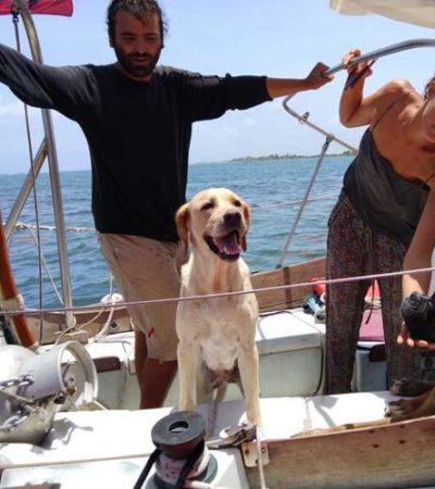 Rescatan a dos italianos y a dos perritos a 11 kilómetros de Mahahual