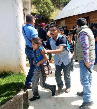 Liberan a migrantes centroamericanos secuestrados en San Juan Chamula, Chiapas