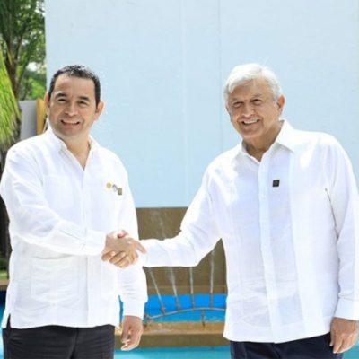 Promoverán México y Guatemala programa multinacional sobre migración, según acuerdo entre AMLO y Morales