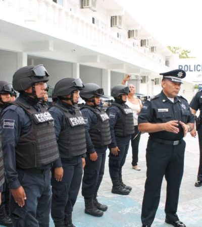 Supervisa Gobernador Base de Operaciones de la Policía Estatal en Cozumel; es un viejo anhelo, dice Rodolfo del Ángel