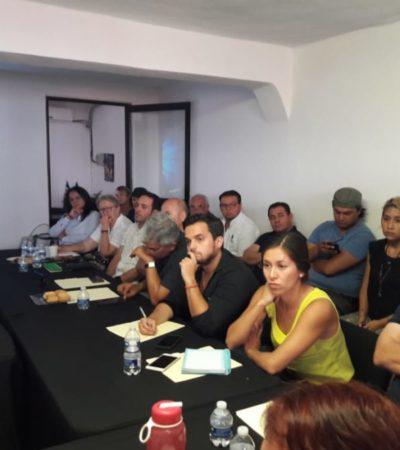 """Expertos presentan al CCE de la Riviera Maya el proyecto """"Escudo del Caribe"""" en contra del sargazo"""