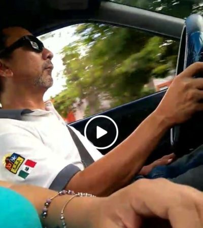 Dan de baja a taxista por tocarse de forma obscena frente a pasajera en Cancún