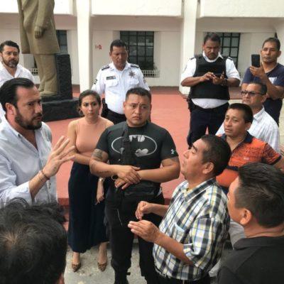 Protestan policías municipales que no recibieron recursos de Fortaseg; Guillermo Brahms adelanta que revisarán caso por caso para conocer qué sucedió