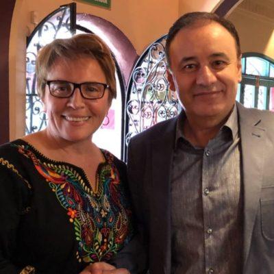 Laura Beristain se reúne con Alfonso Durazo, próximo secretario de Seguridad Pública Federal