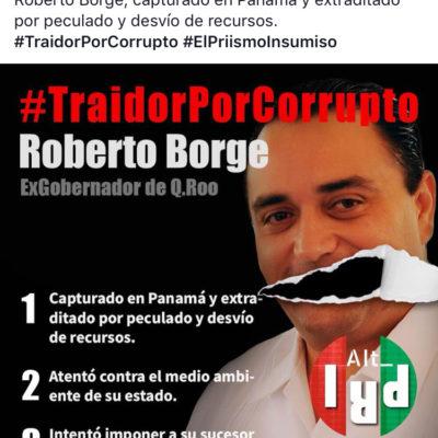 En redes sociales, priístas culpan a Roberto Borge de la derrota electoral del 1 de julio y lo califican de traidor