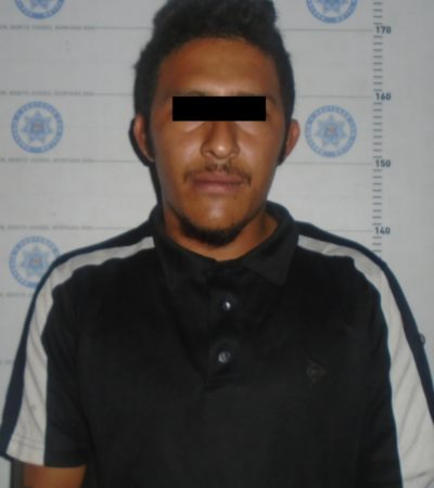 Detienen a un hombre por asalto y lesiones a peatón en Cancún